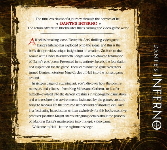 Dante S Inferno The Book Based On The Game Based On The