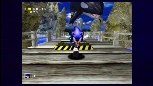 Sonic Adventure on PSN and XBLA won't venture outside of 4:3