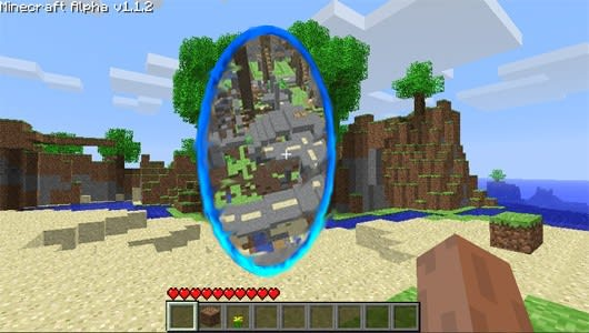 minecraft how to link portals