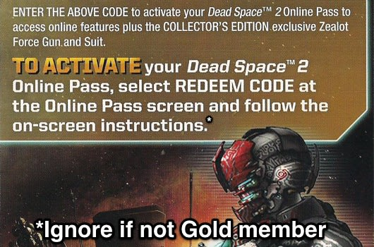 PSA: Dead Space 2 DLC workaround for non-Gold members