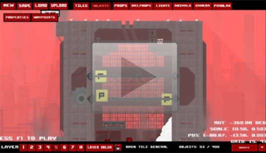 Super Meat Boy level editor video tutorial will teach you a thing or two