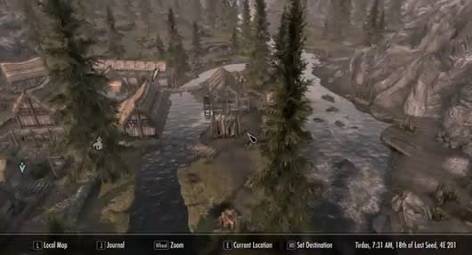 Skyrim mod adds Street View-like map functionality
