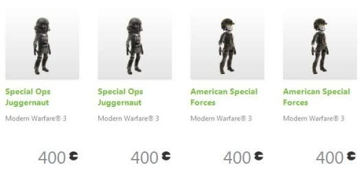 MW3 avatar sales on Xbox Marketplace benefit Call of Duty