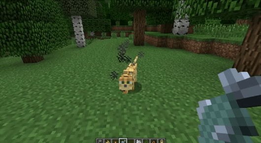 Minecraft's latest snapshot introduces ocelots (look at his little