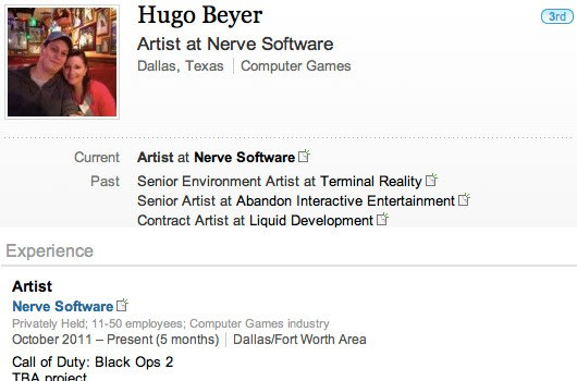 Treyarch contract art studio employee lists 'Black Ops 2