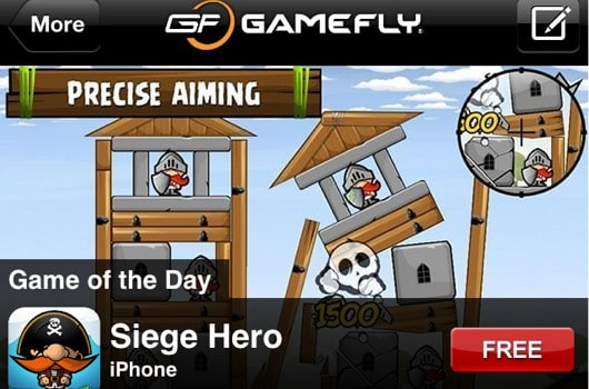 GameFly adds 'Game of the Day' to mobile app, features free