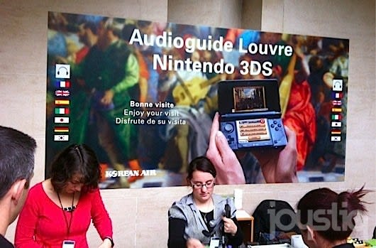 Touring the Louvre with a 3DS