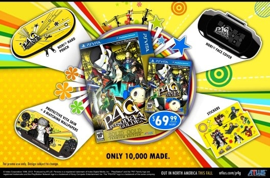 Persona 4: Solid Gold edition full of gold, only 10,000