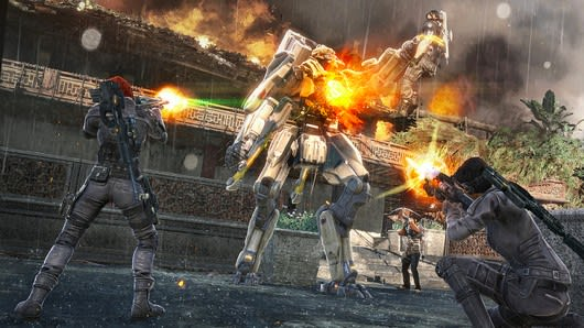 insomniac's overstrike team-based shooter has turned into a game called fuse,  due out in the first quarter of next year on xbox 360 and playstation 3