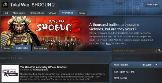 Total War: Shogun 2 'Assembly Kit' launches, integrates Steam Workshop