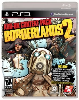 Borderlands 2 retail add-on pack bundles Scarlett, Torgue