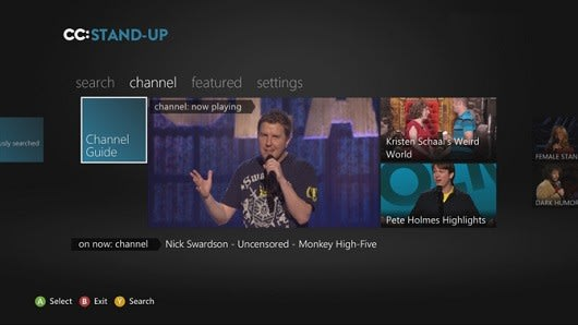 Comedy Central laughs all the way to Xbox 360 with stand-up comedy app