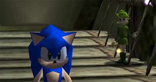 Bizarre Ocarina Of Time Mod Replaces Link With Sonic The Hedgehog