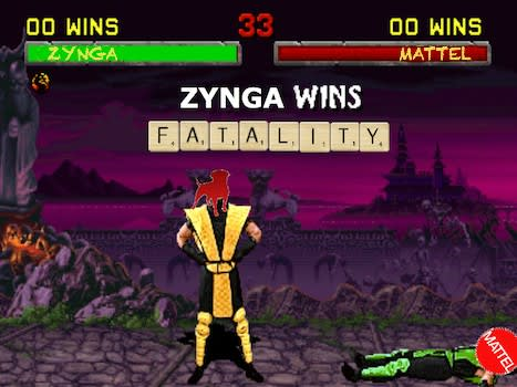 Zynga wins in copyright suit against Mattel over Scramble with Friends