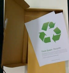 Apple recycling information mailer not so green