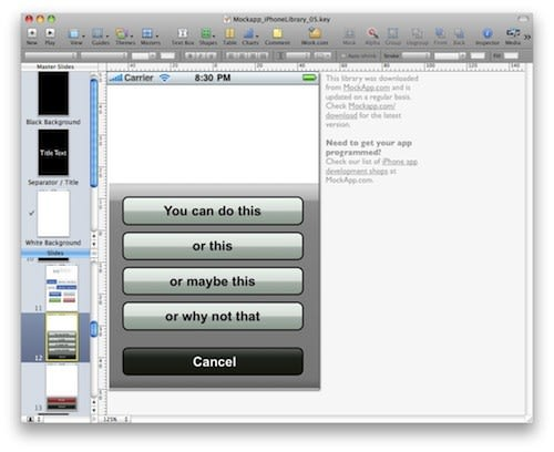 Free iPhone Keynote and PowerPoint templates help get you