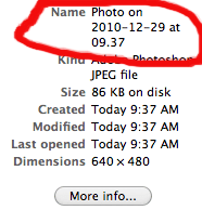 Beware Photo Booth time stamps: It's a bug, not a feature