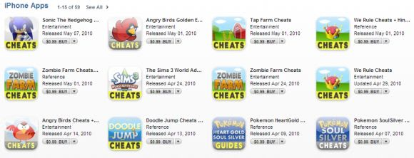 App Store filling up with spammers and clones of popular apps