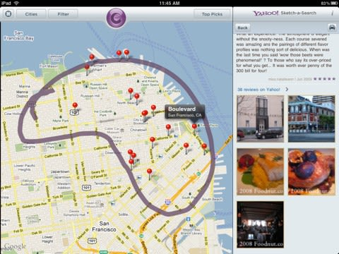 Yahoo! releases Sketch-a-Search for iPad, update for iPhone on chicago map, northern ca map, usa map, sausalito map, detroit map, bay area map, las vegas map, omaha map, california map, los angeles map, dallas map, united states map, boston map, new orleans map, sydney australia map, salt lake city map, kansas city map, berkeley map, tokyo map, golden gate park map,