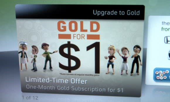 Microsoft offering Silver members one month of Xbox Live
