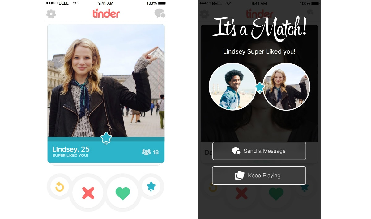 Tinder adds a third swipe option called Super Like