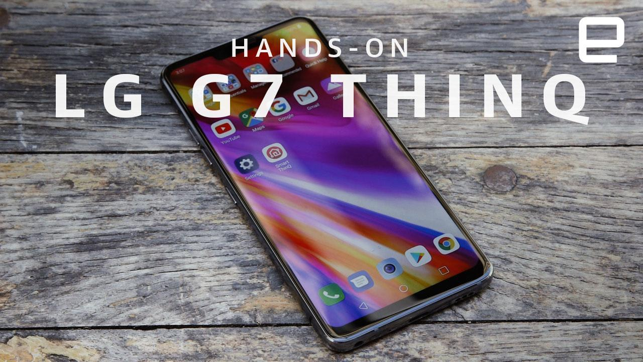 lg g7 thinq hands on the loudest brightest smartphone yet