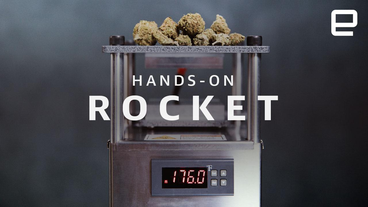 The Rosinbomb Rocket is a panini press for weed