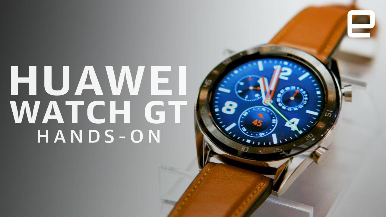 496a75d37 Huawei Watch GT hands-on  Big battery promises and yet another OS