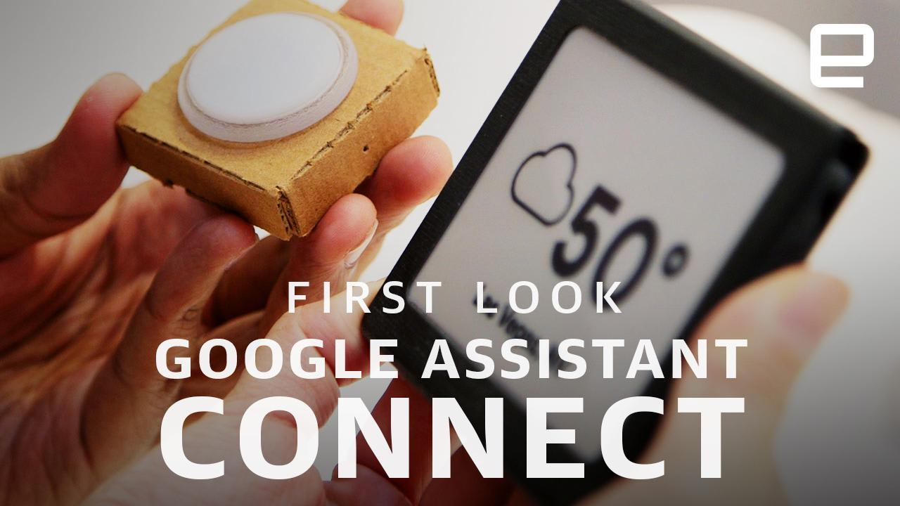 Google stuffed Assistant in a smart button and e-ink screen