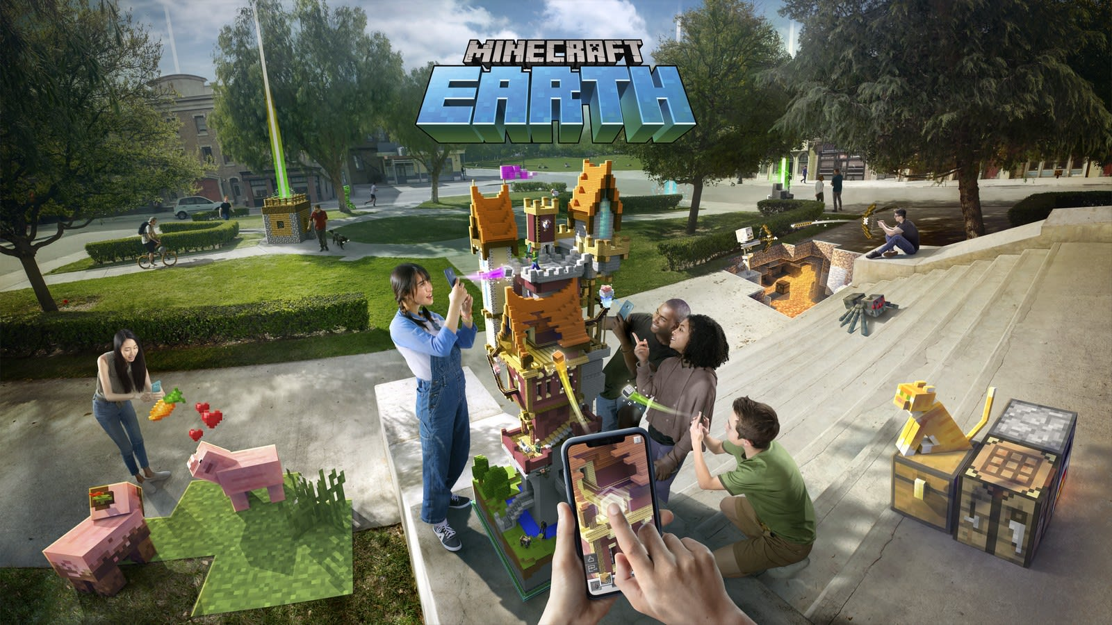 Minecraft Earth Makes The World Your Augmented Reality