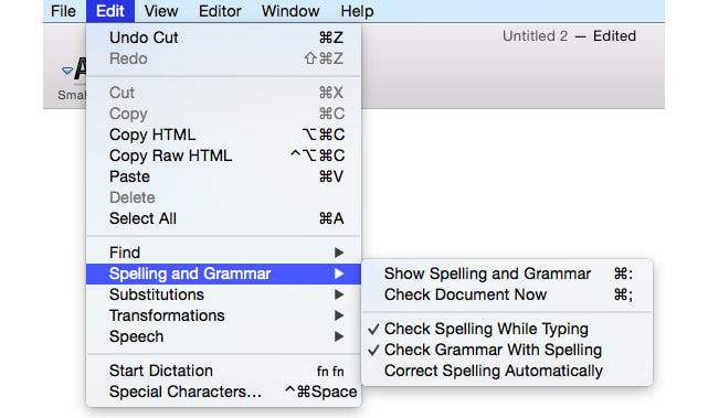 Mac 101 Use Built In Os X Tools To Spell And Grammar Check Your Doents