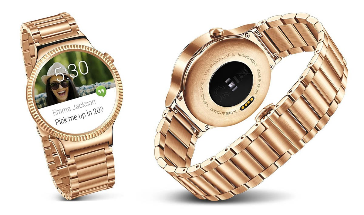 Huawei Aims High With 800 Gold Plated Watch Smart Black Stainless Steel
