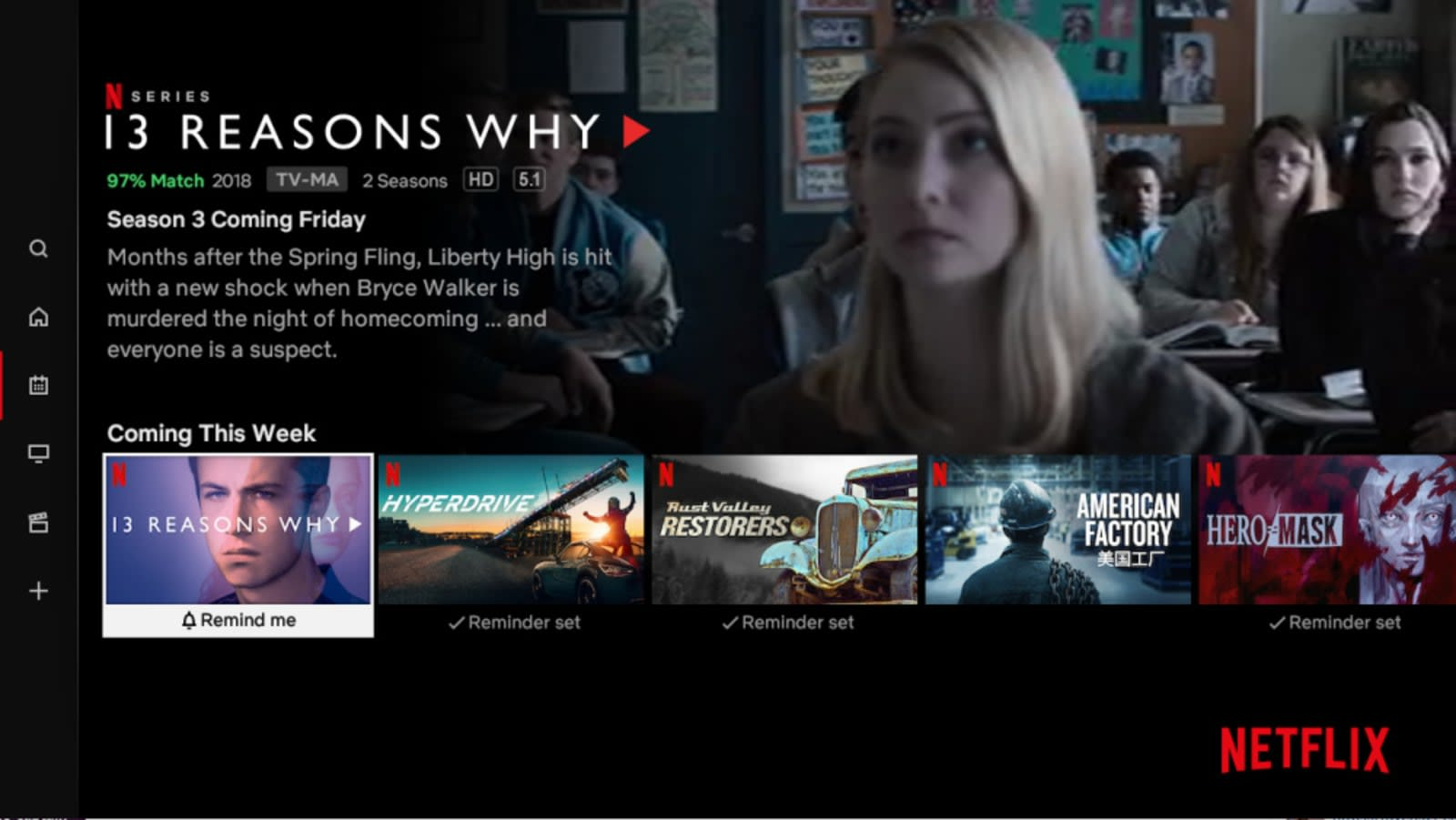 Netflix gives new and upcoming releases their own tab in its TV app
