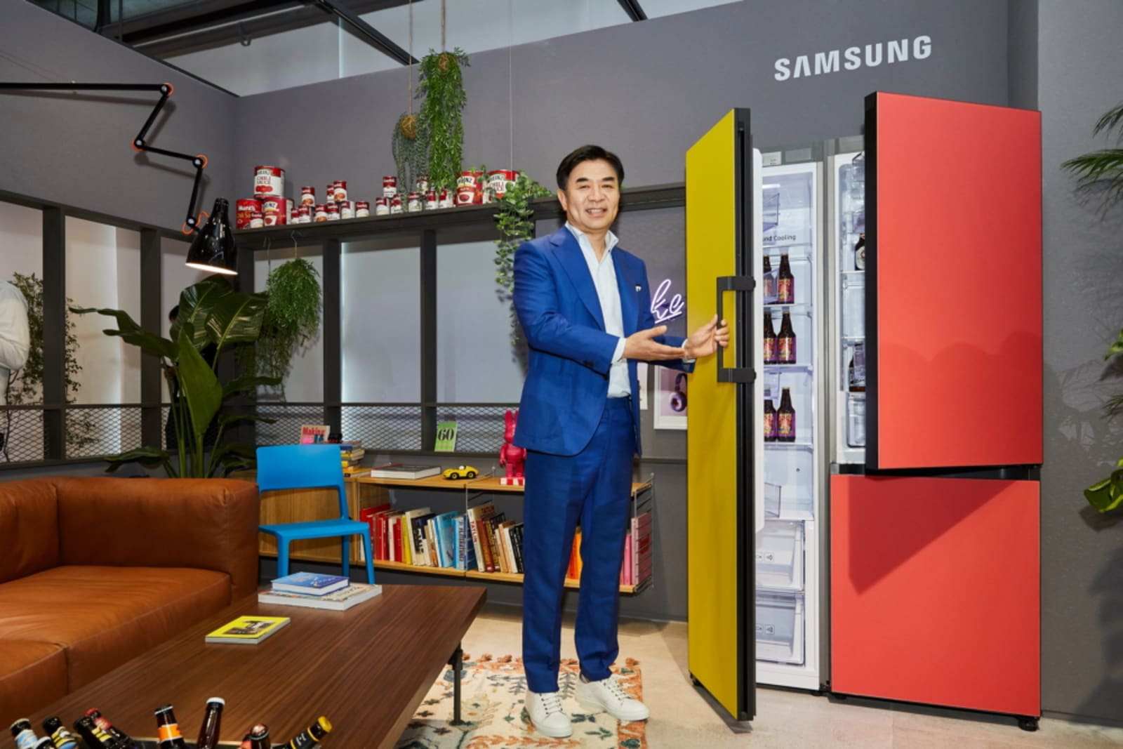 Samsung's customizable refrigerator comes in nine colors and
