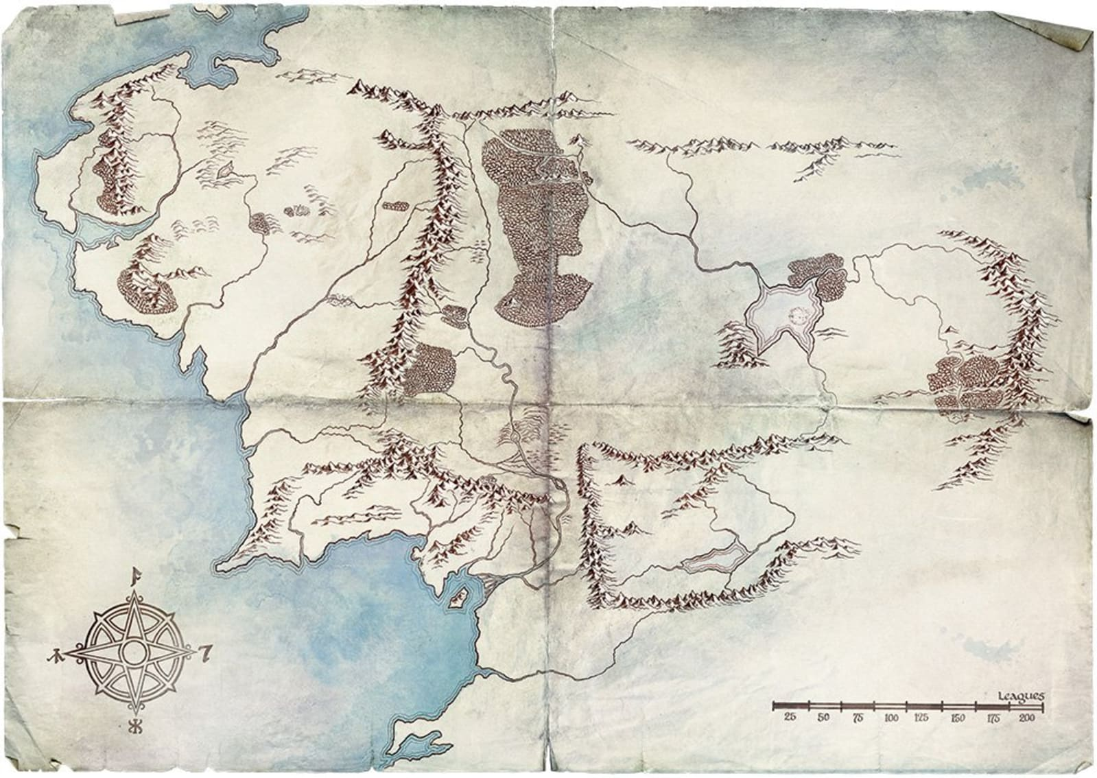 Map Middle Earth Amazon's first 'Lord of the Rings' teaser is a minimal Middle
