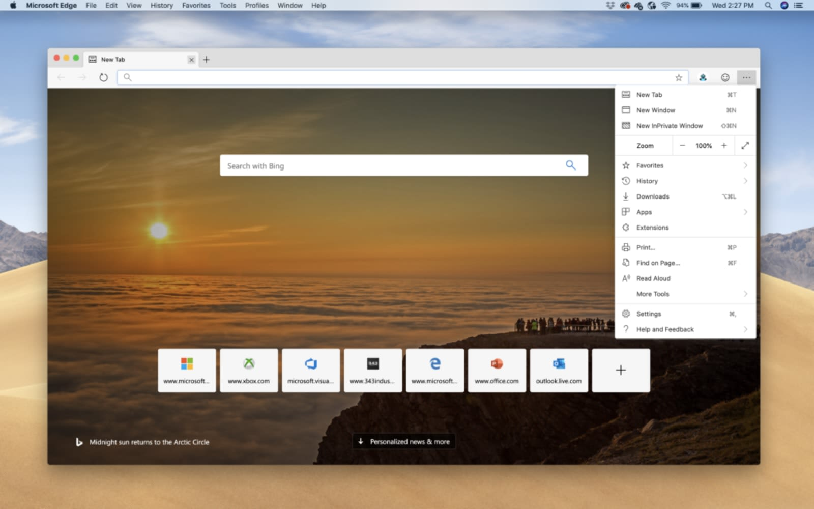 First version of Edge browser available for MacOS   Less wires