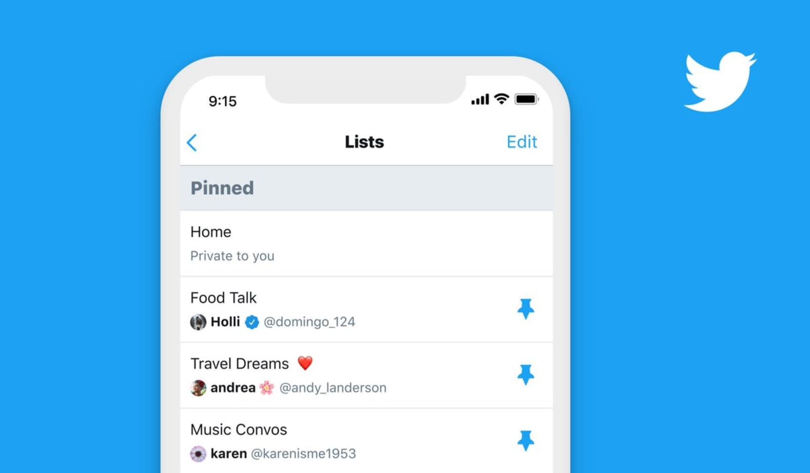 Twitter will let you pin your favorite lists in its app