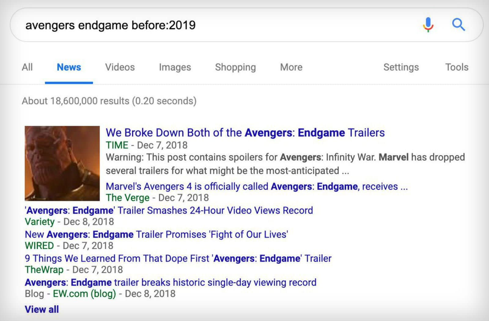 Google Search is testing inline before-after date filtering