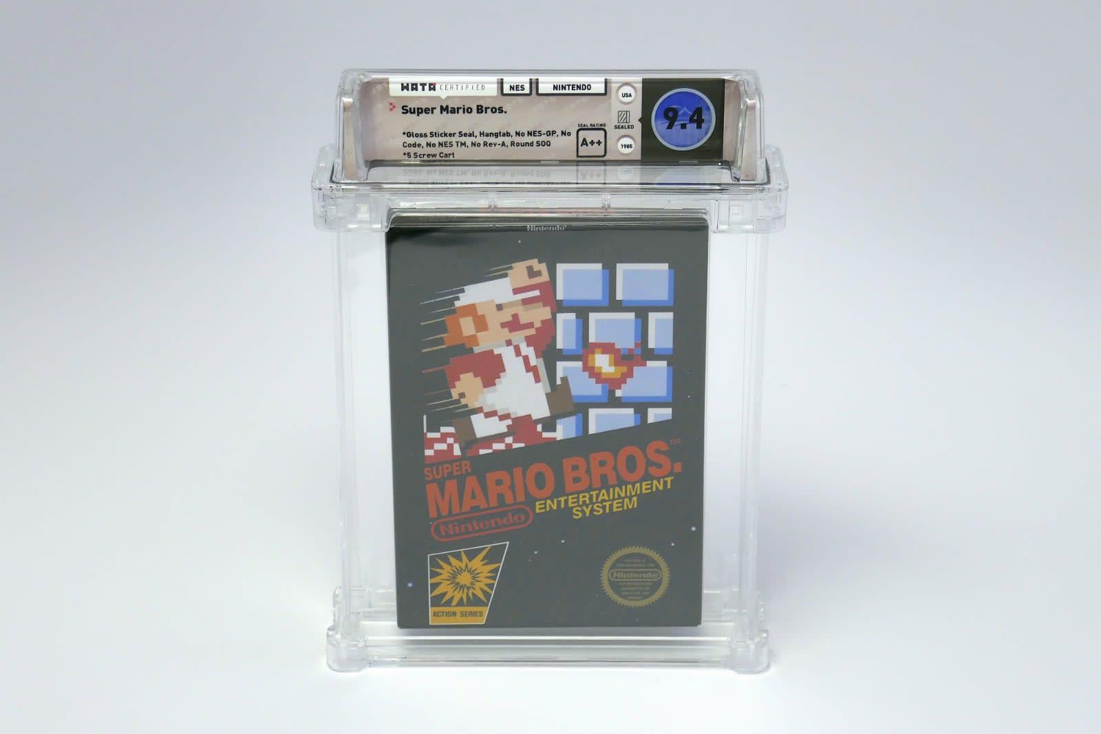 A pristine 'Super Mario Bros ' cartridge sold for over $100,000