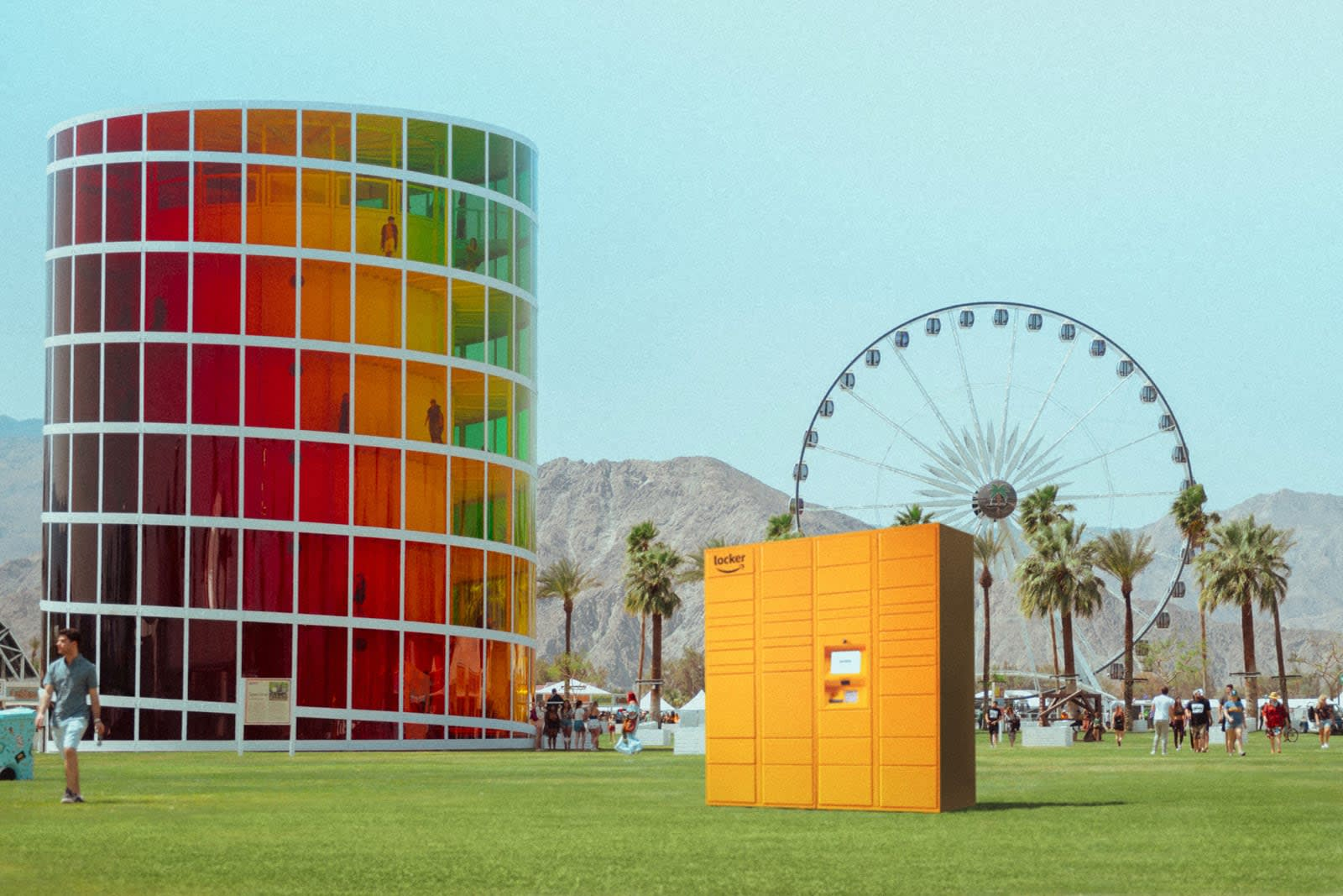 Amazon's Coachella delivery lockers will help you get more