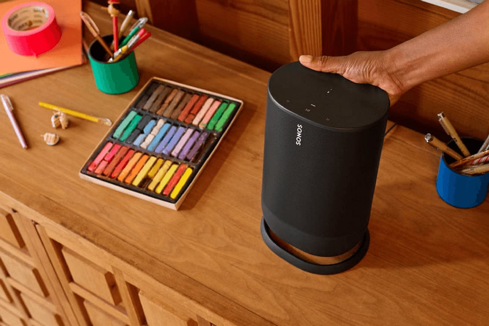 Sonos' portable smart speaker leaks in greater detail