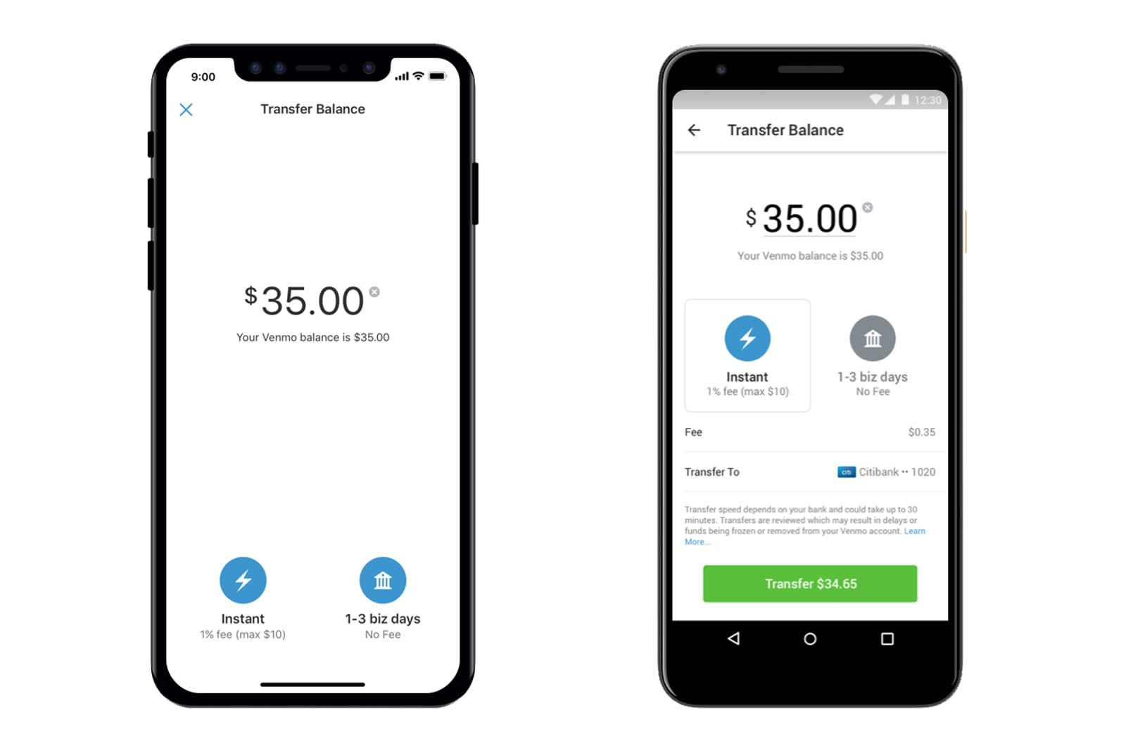 Venmo can instantly transfer money to your bank account ... on