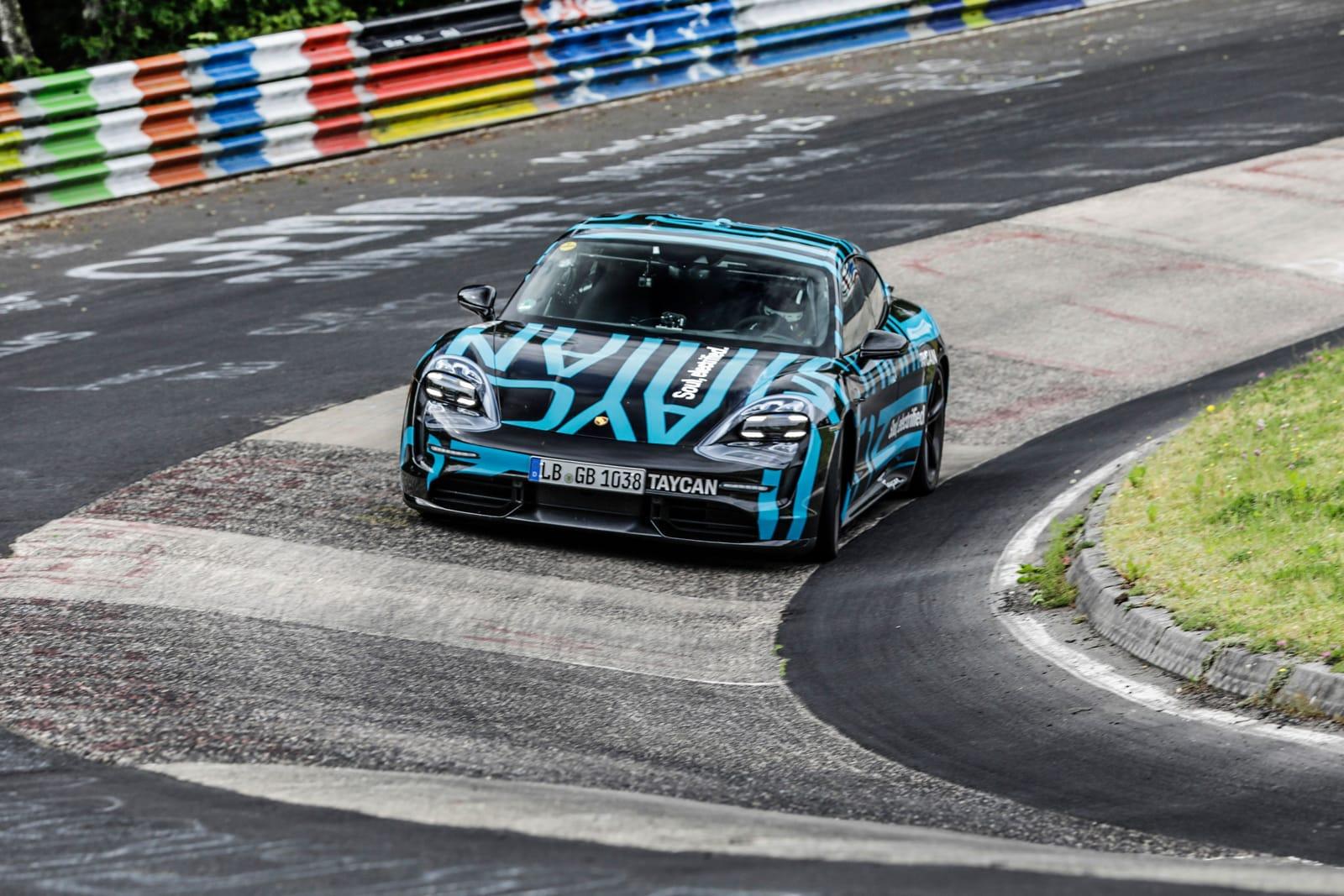 Porsche Taycan sets four-door EV speed record at the Nürburgring