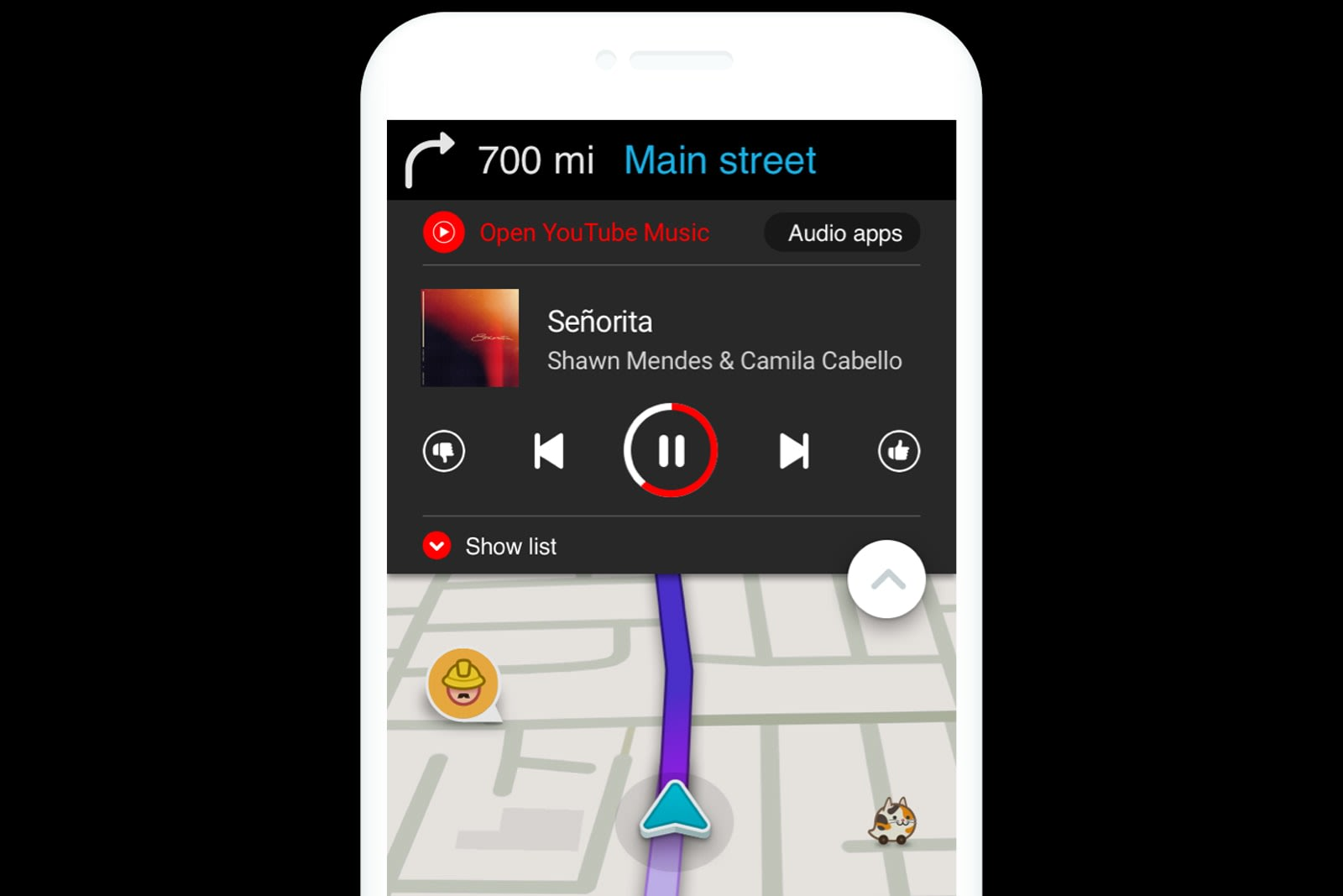 Waze adds easy access to YouTube Music while you drive
