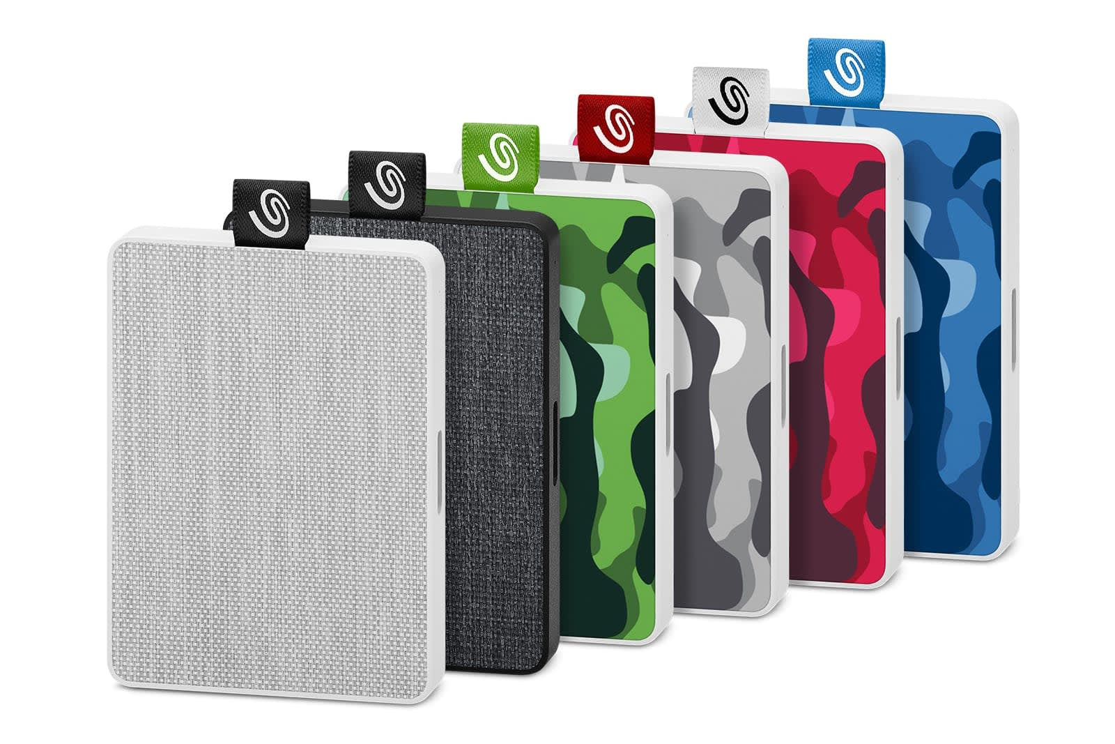 Seagate's latest portable SSDs are wrapped in fabric and camo