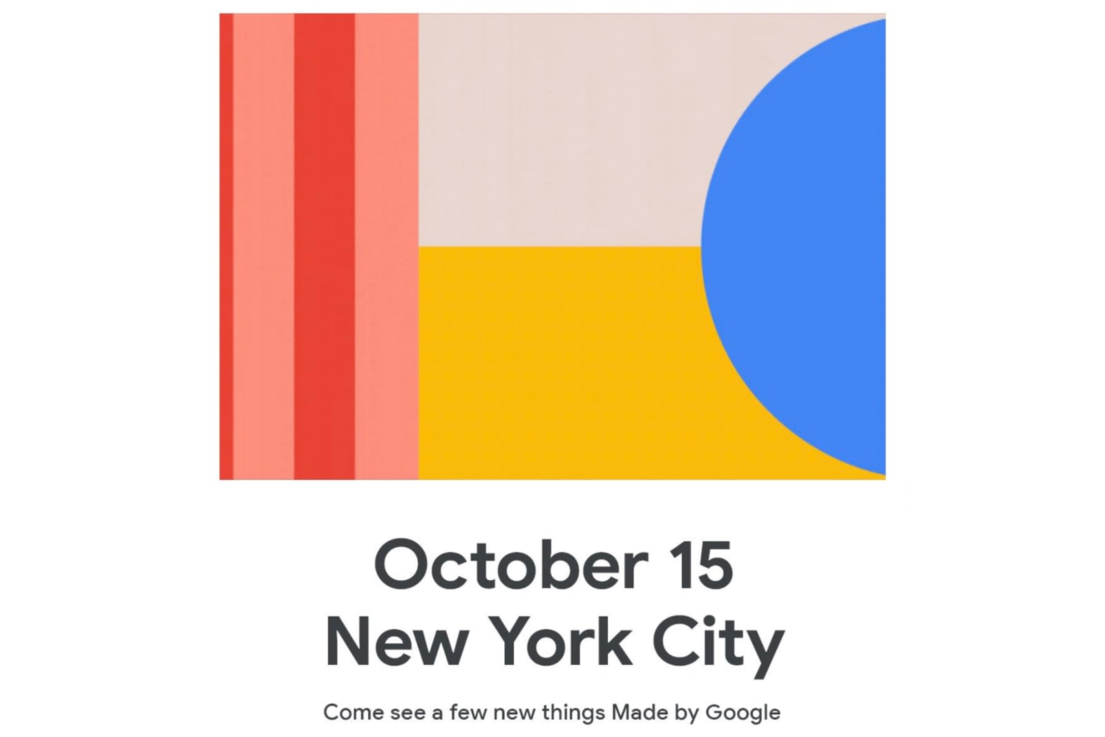 Google's Pixel 4 event takes place October 15th