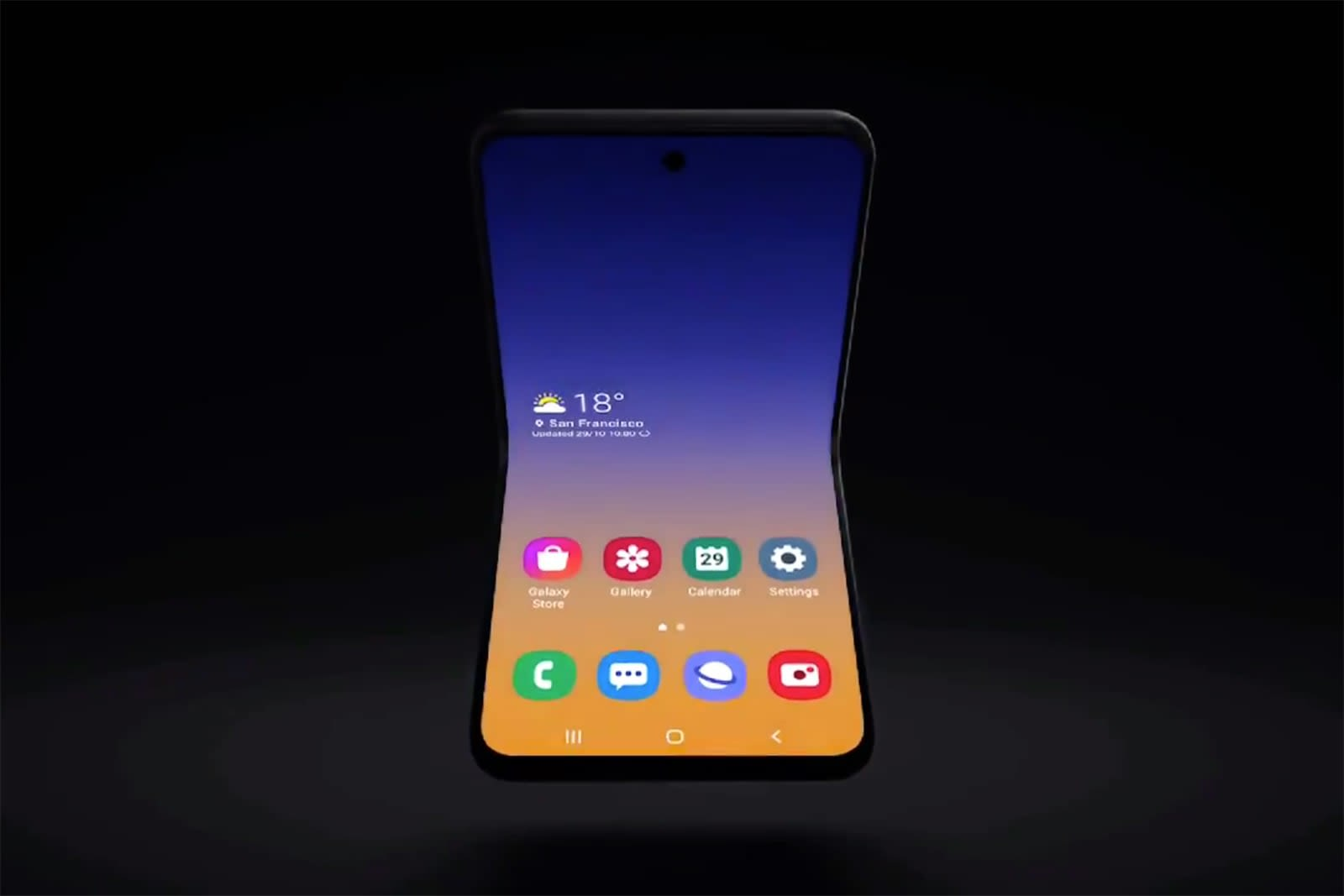 Samsung teases a clamshell foldable phone concept