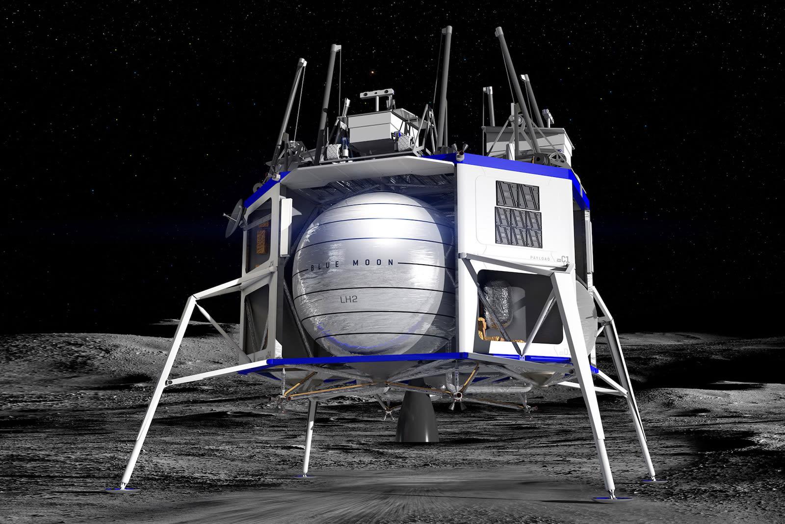 Blue Origin teams with spaceflight veterans to complete its lunar lander