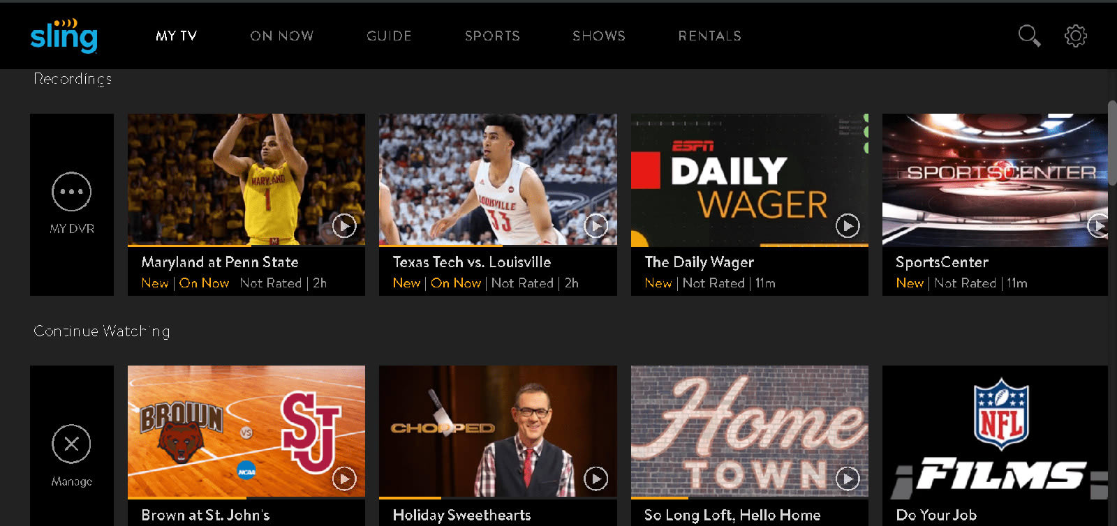 Sling TV's Cloud DVR can finally record ESPN