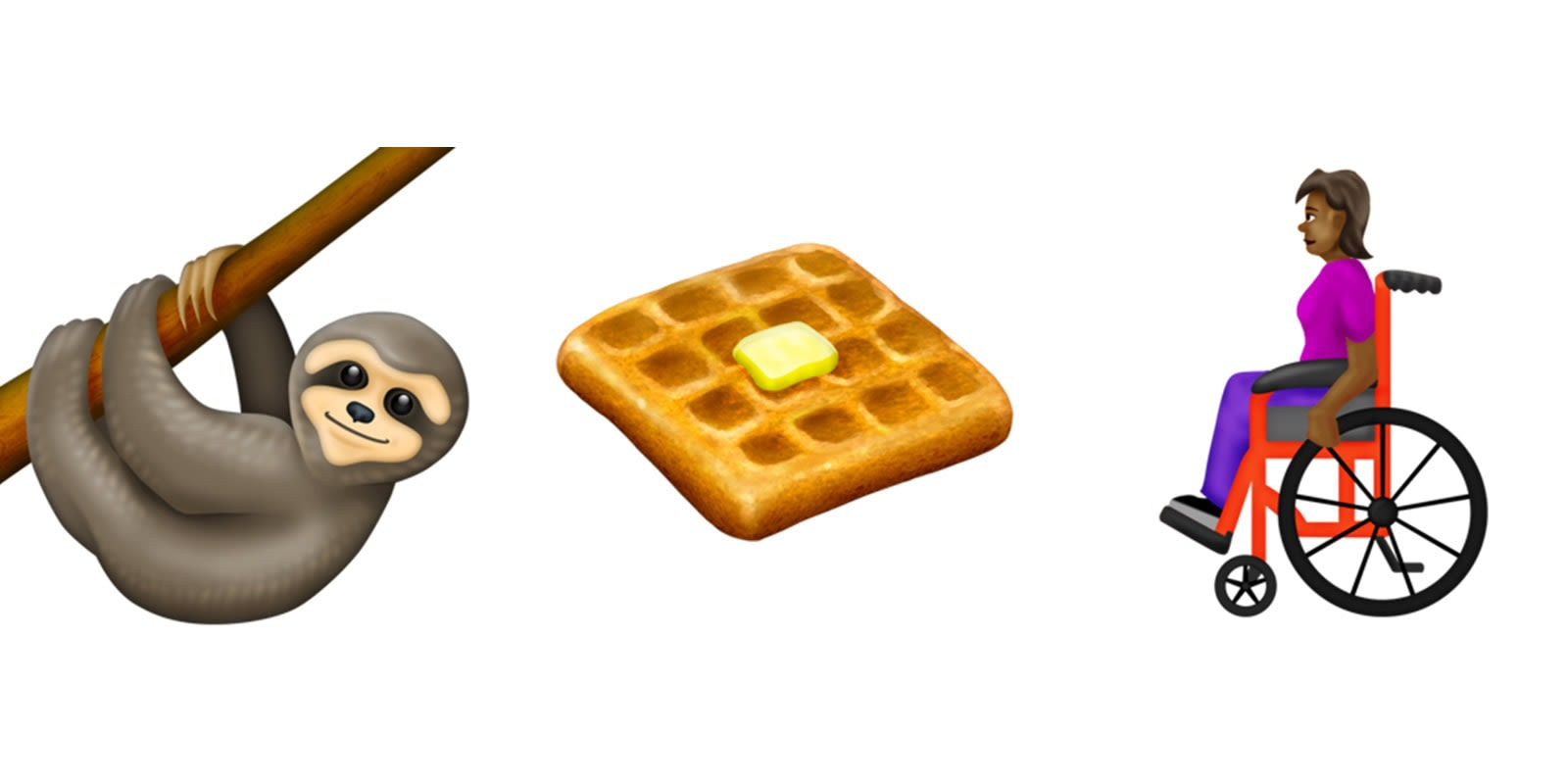 New emoji for 2019 include wheelchairs, waffles and sloths